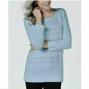 Karen Scott XXL Blue Pullover Sweater 4AA28